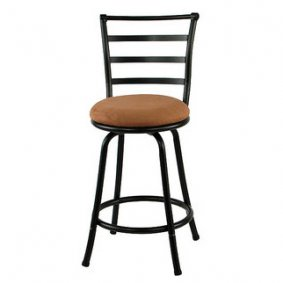 Swivel bar stool with back iowa local yard and garage for Sillas para desayunador